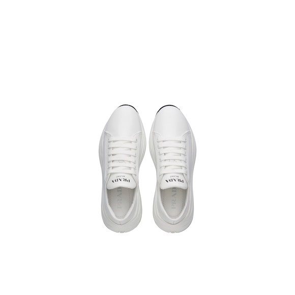 Prada Brushed leather sneakers 4