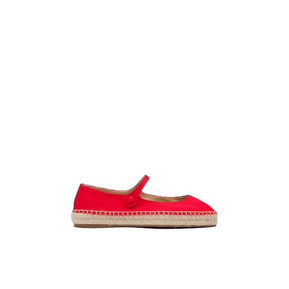 Prada 华达呢芭蕾平底鞋 4