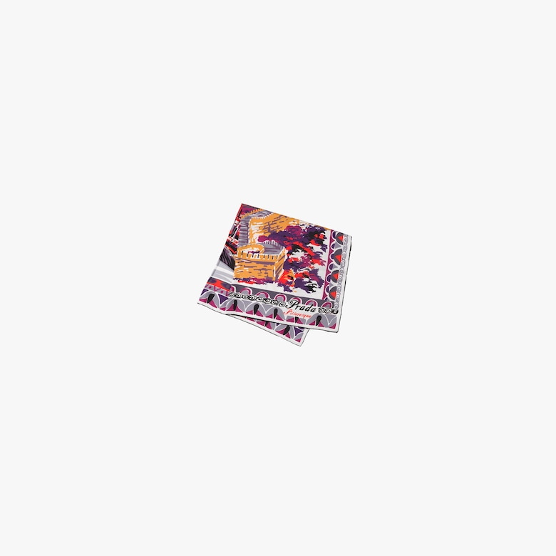 Pittoresque Beijing printed 90 silk foulard