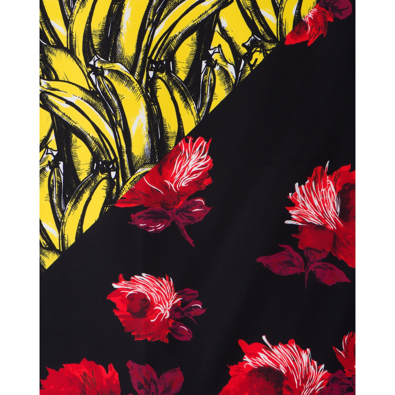Double Match Bananas printed 55 silk scarf