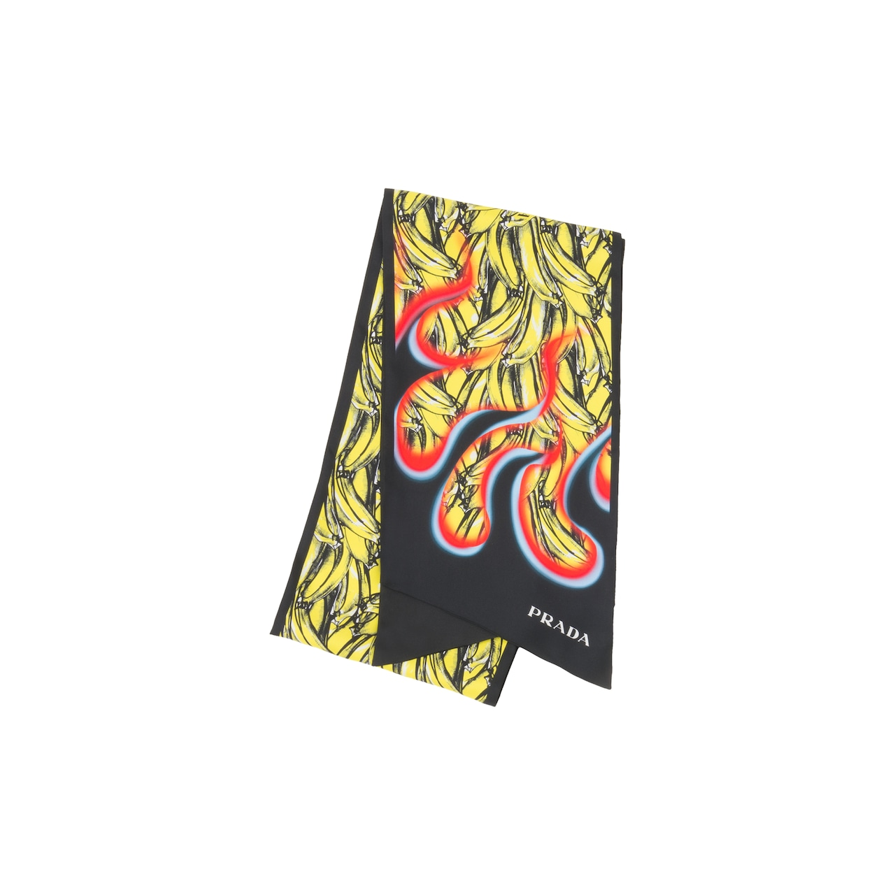 Double Match Bananas printed silk scarf