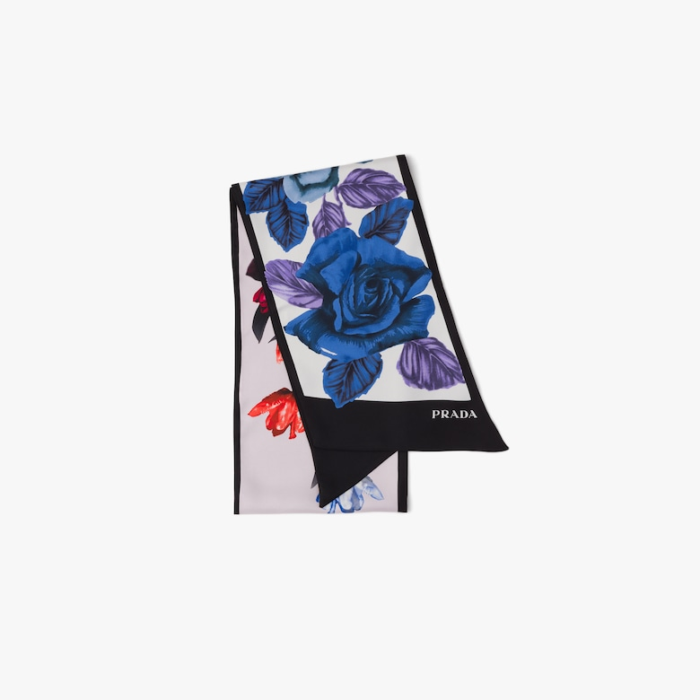 Prada Double Match silk scarf - Woman