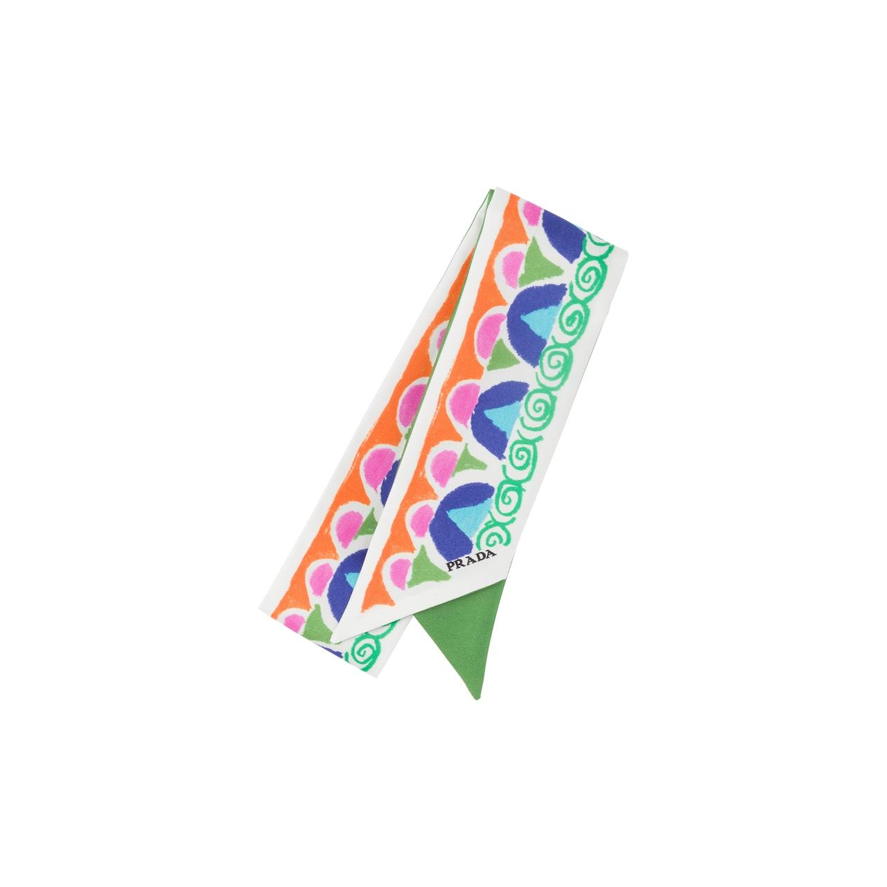 Pittoresque print silk ribbon