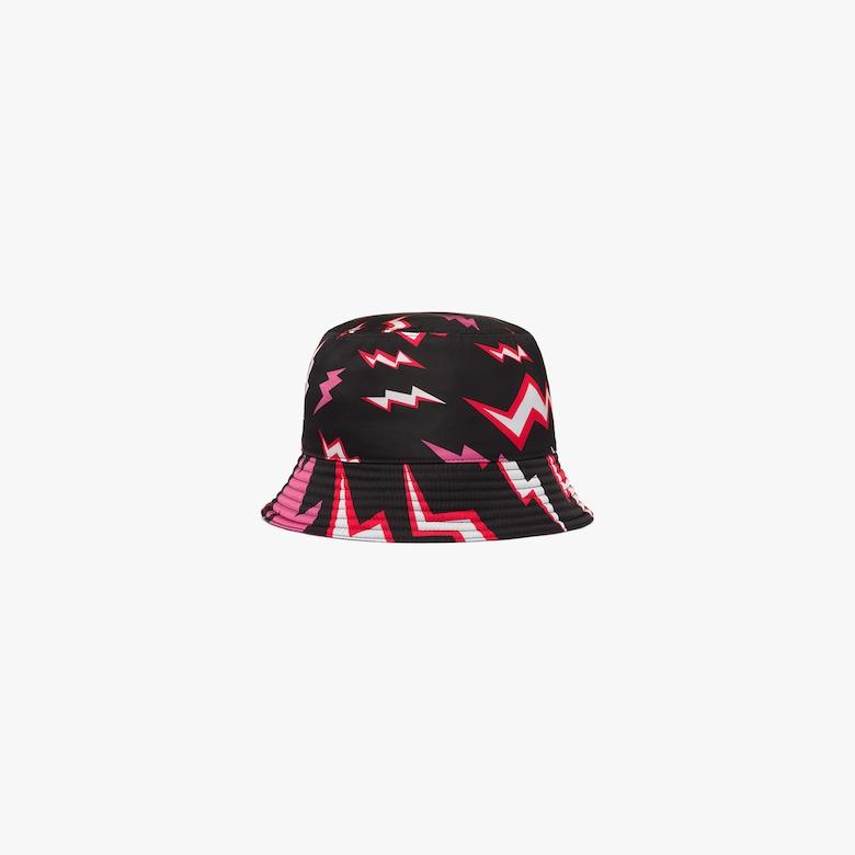 Lightning print nylon hat