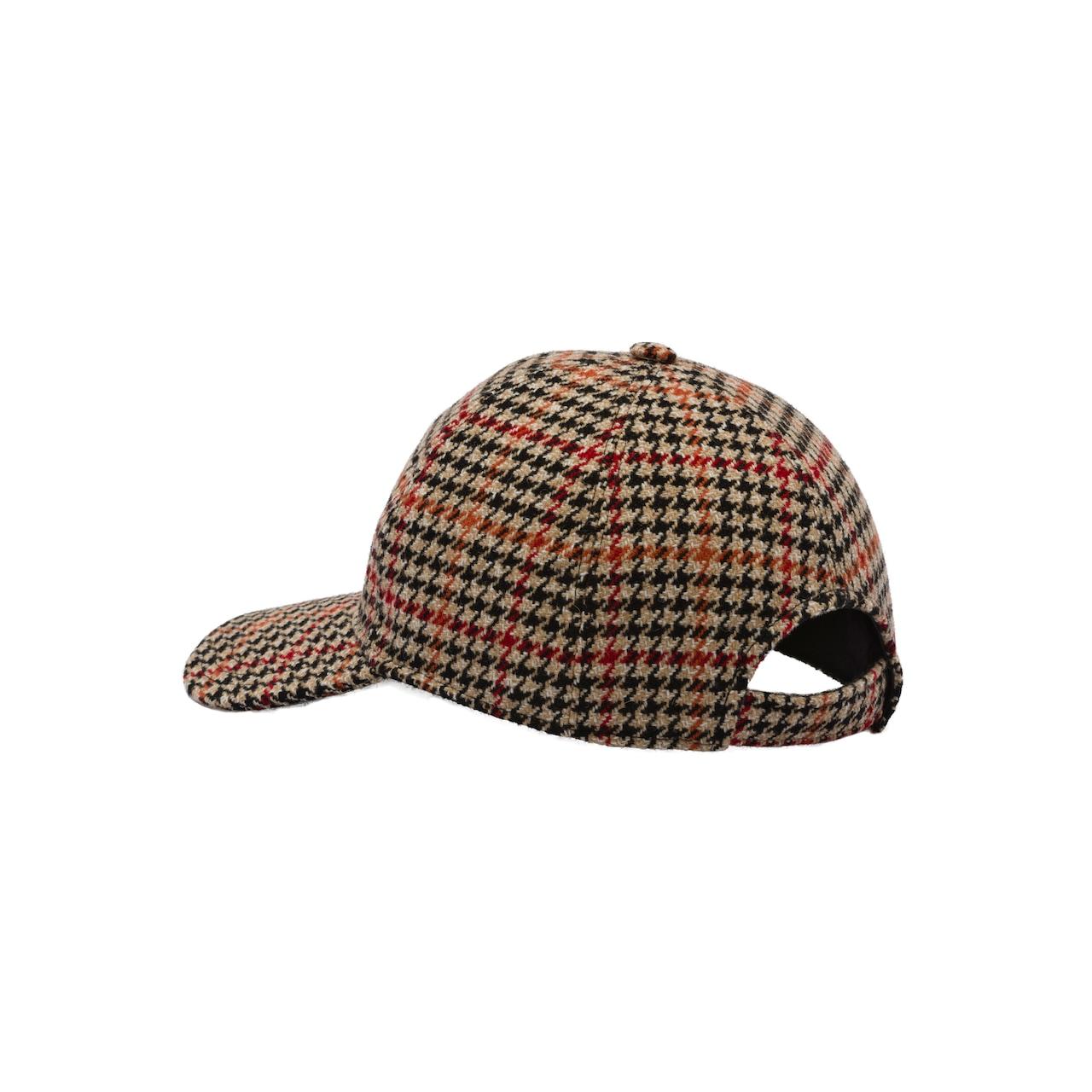 Houndstooth wool cap
