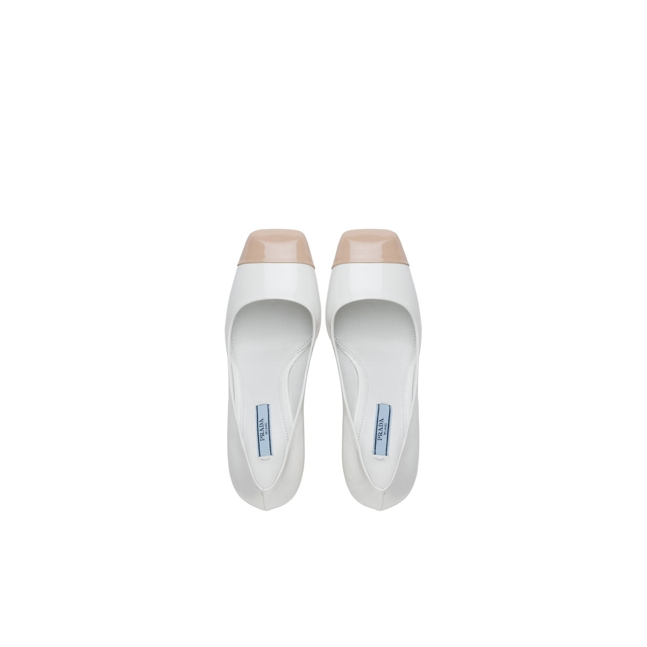 Prada 双色漆皮高跟鞋 4