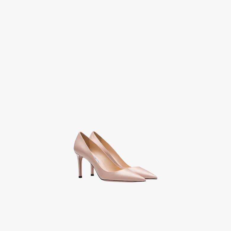 Prada Saffiano textured patent leather pumps - Woman