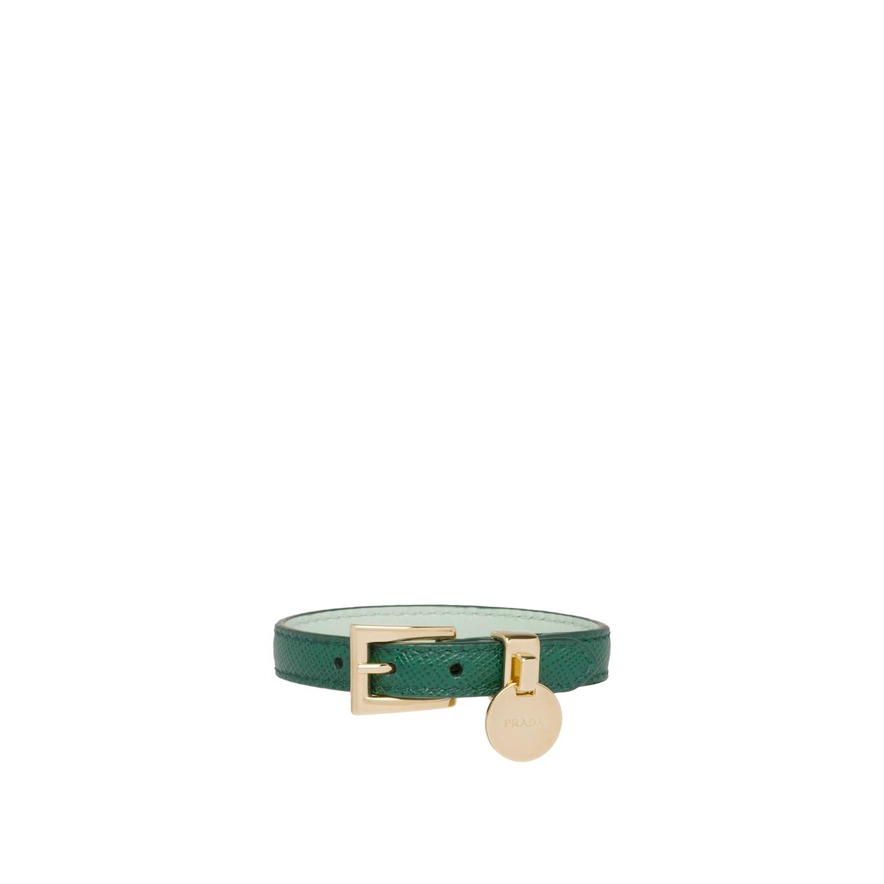 a5c52b6ee2a34 Zweifarbiges Armband aus Saffiano Leder