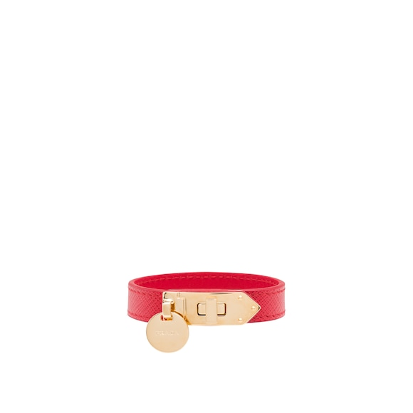 Saffiano 皮革手环