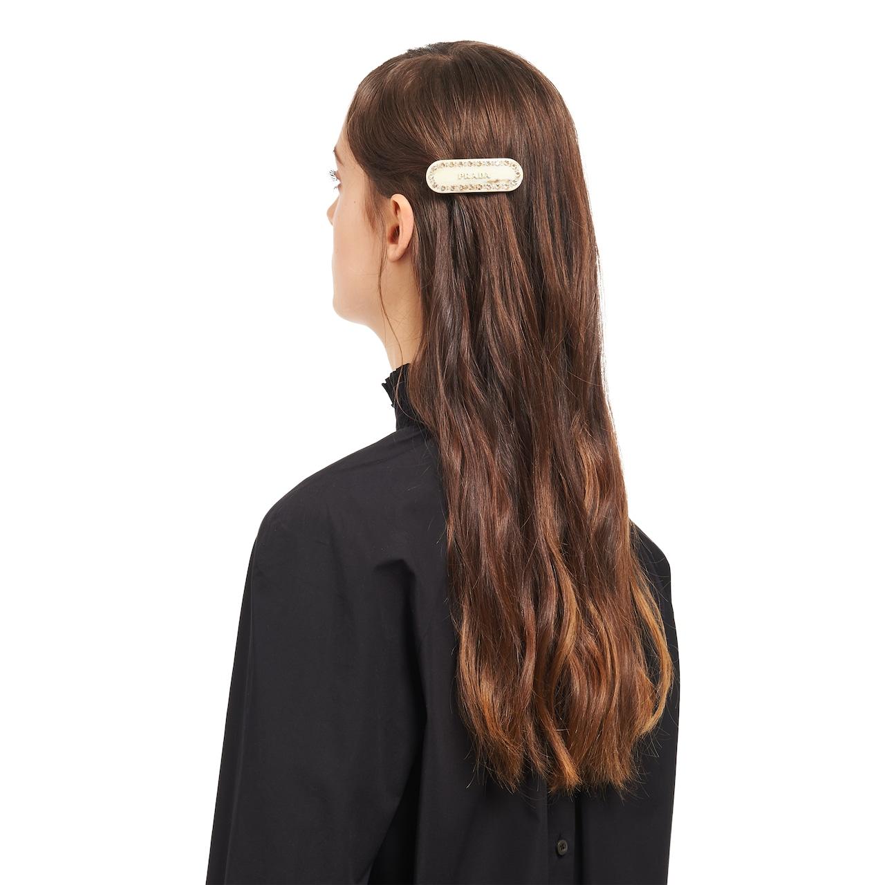 Prada Plexiglas hair clip 2