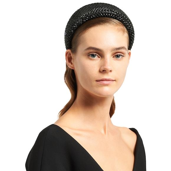 Prada Embellished satin hairband 3