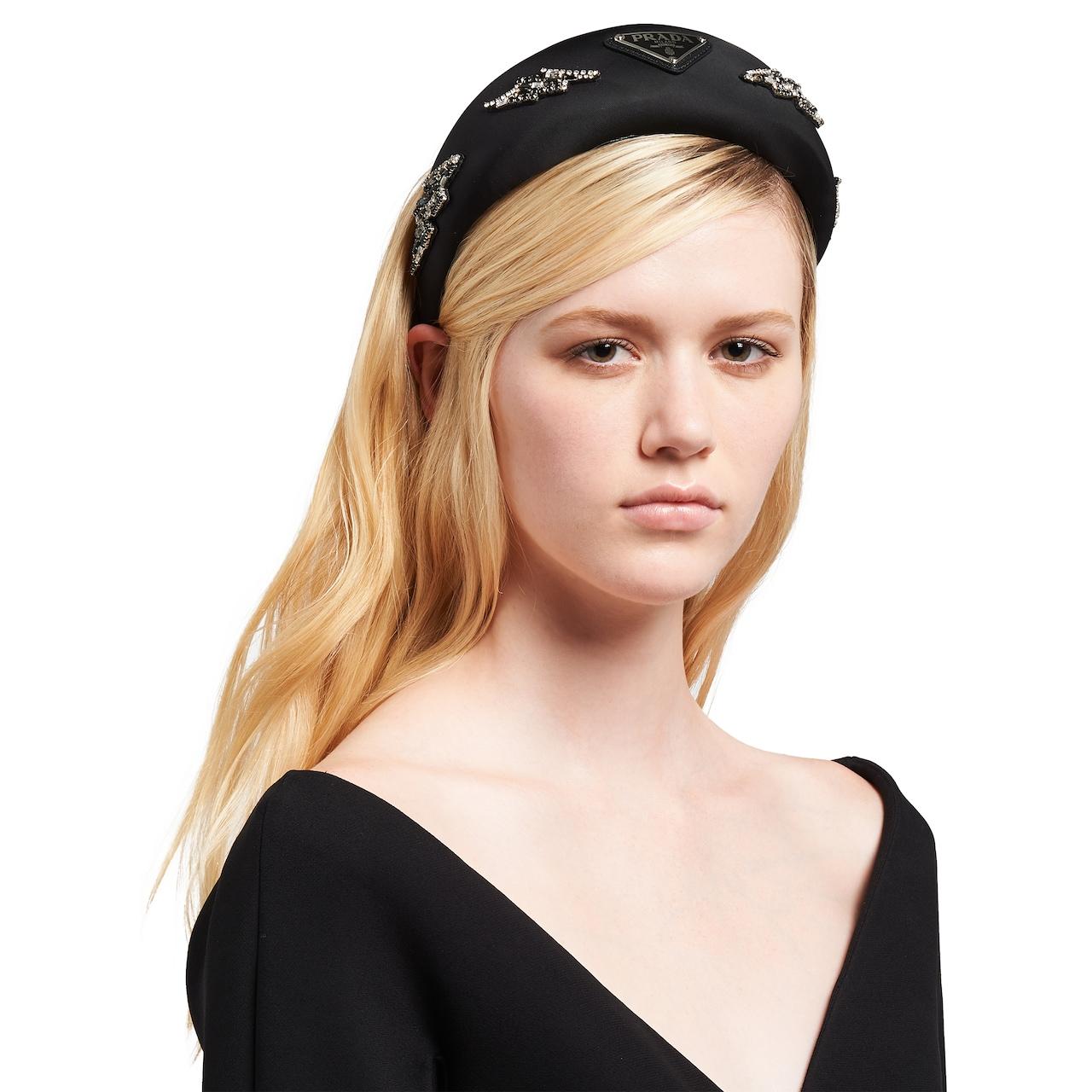 Prada Nylon headband with appliqués 2