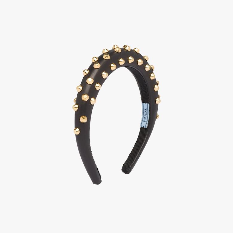 Verziertes Stirnband aus Nappaleder