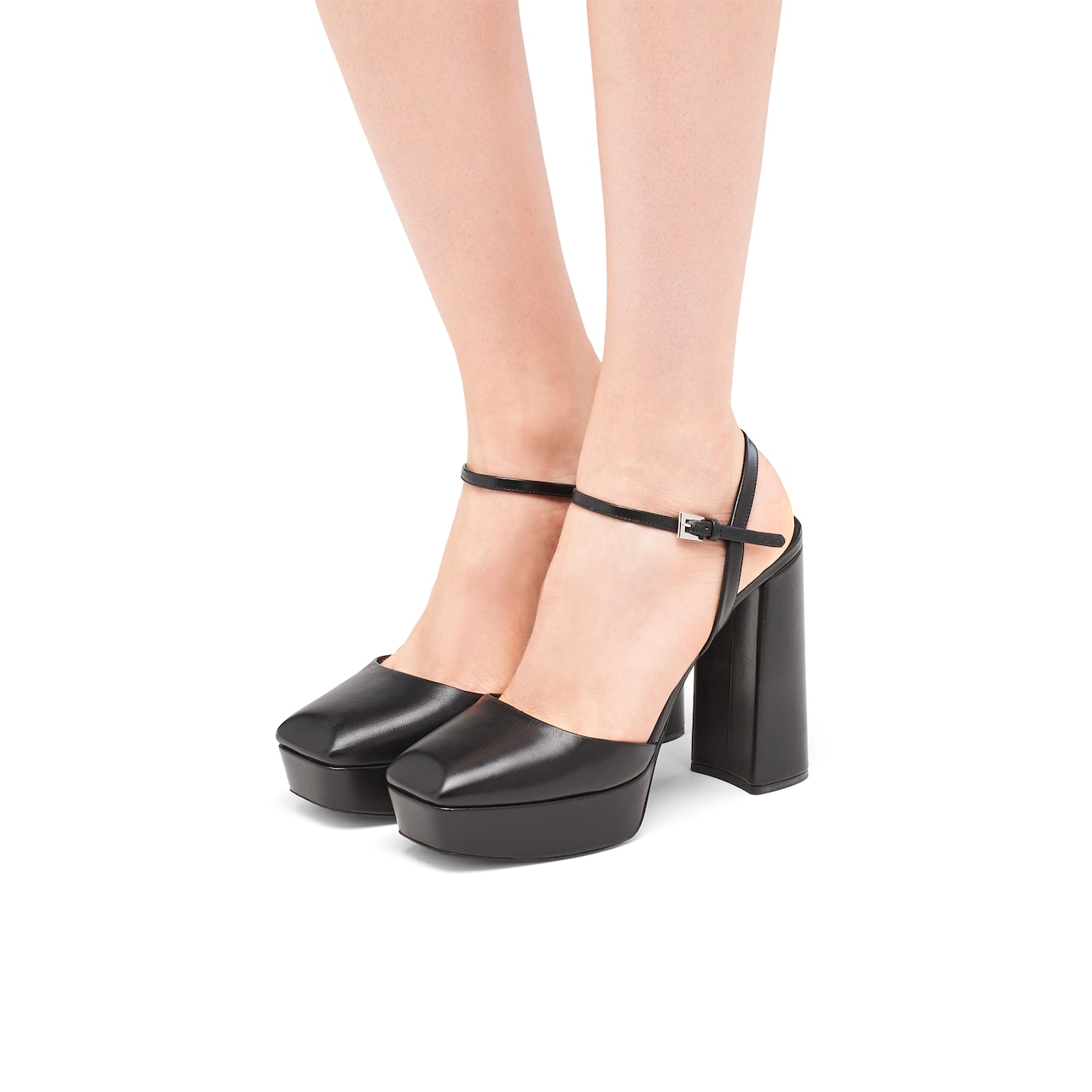 Leather square toe sandals 3