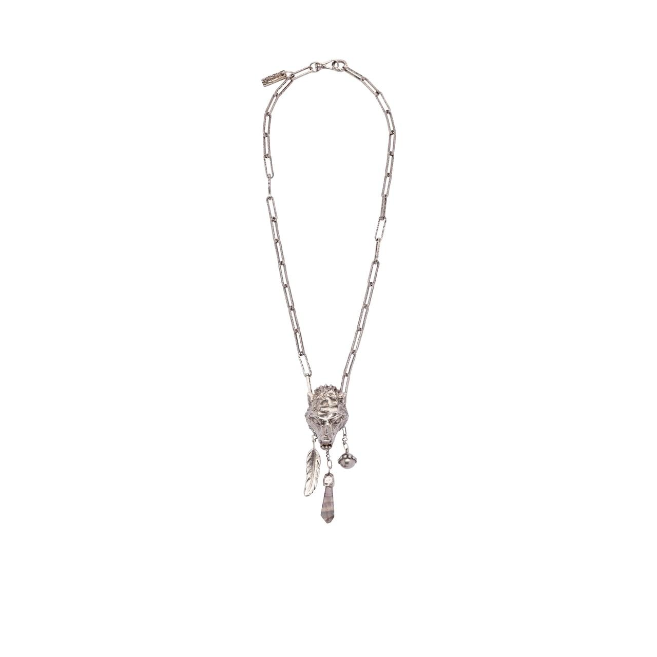 Prada Talisman wolf necklace