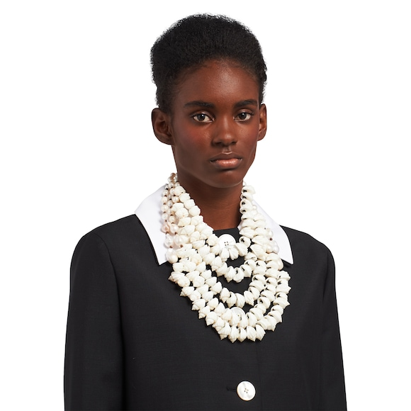 Prada Silver necklace with shells 3