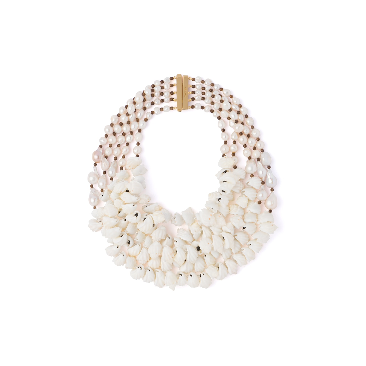 Prada Silver necklace with shells 1
