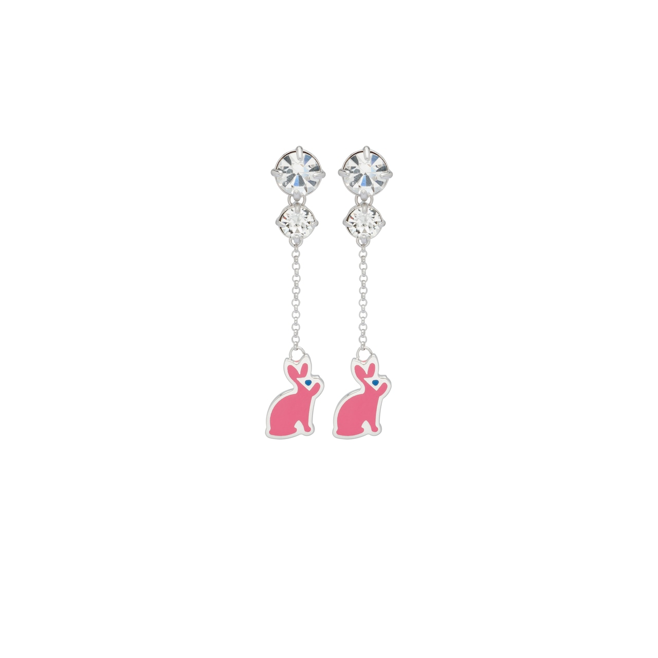 Silver earrings with charm