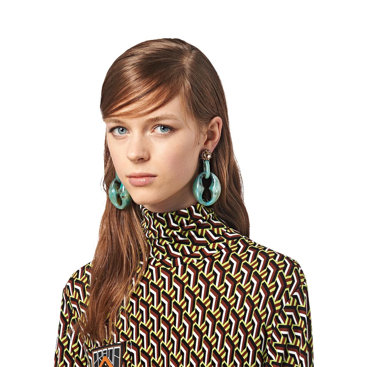 Prada Plexiglas earrings 2