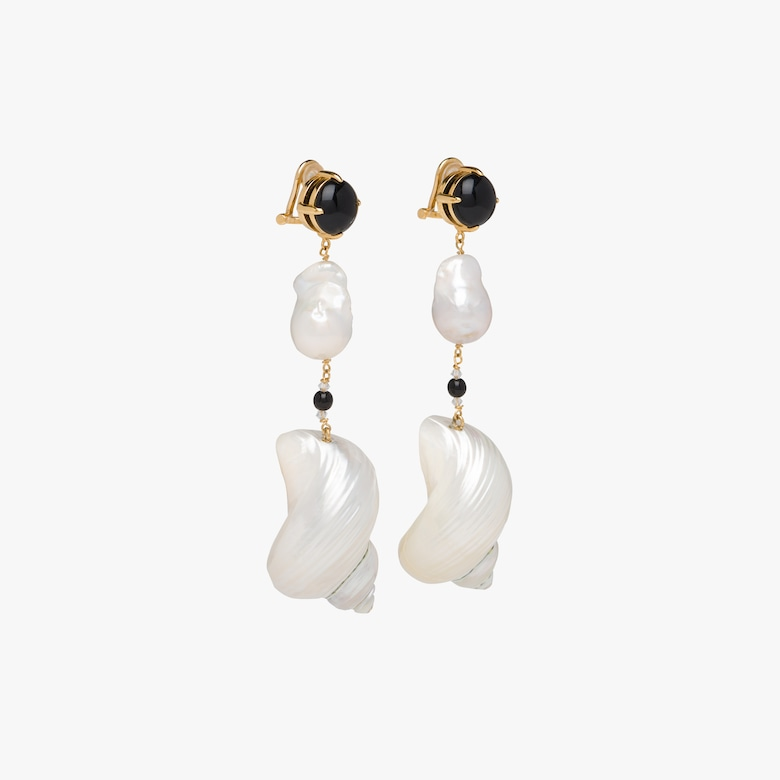 Prada Silver earrings with shells - Woman