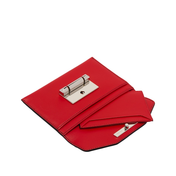 Sybille two-tone leather card holder