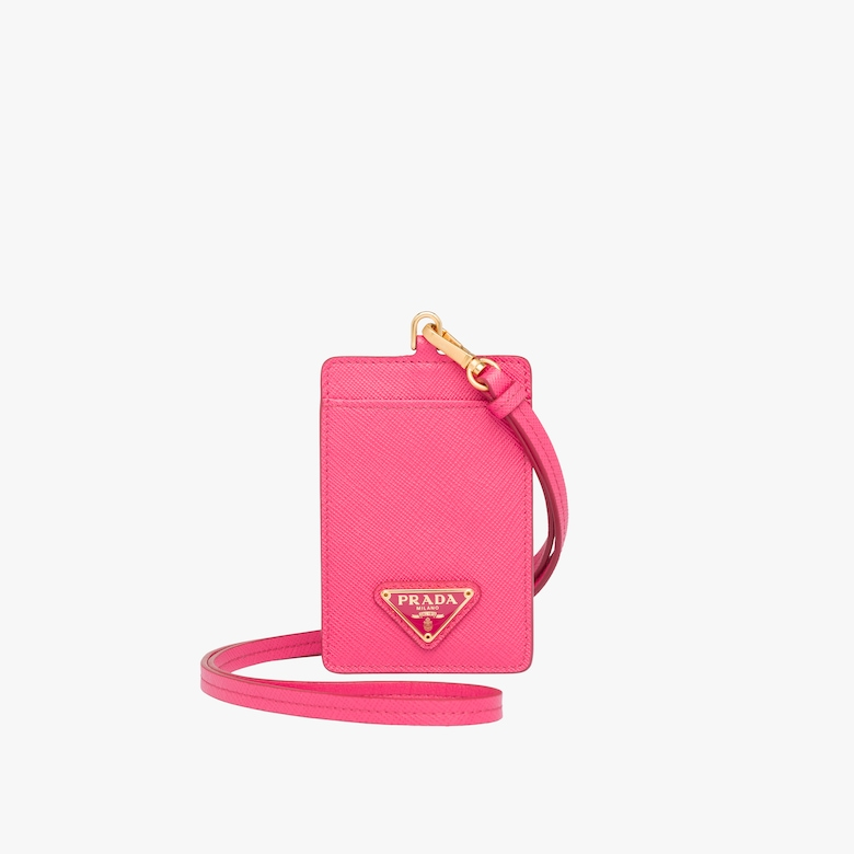 Prada Saffiano badge holder - Woman
