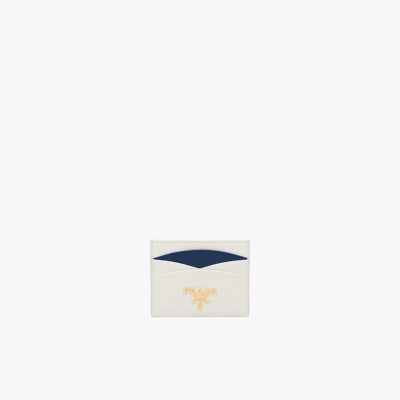 Prada Saffiano leather credit card holder - Woman