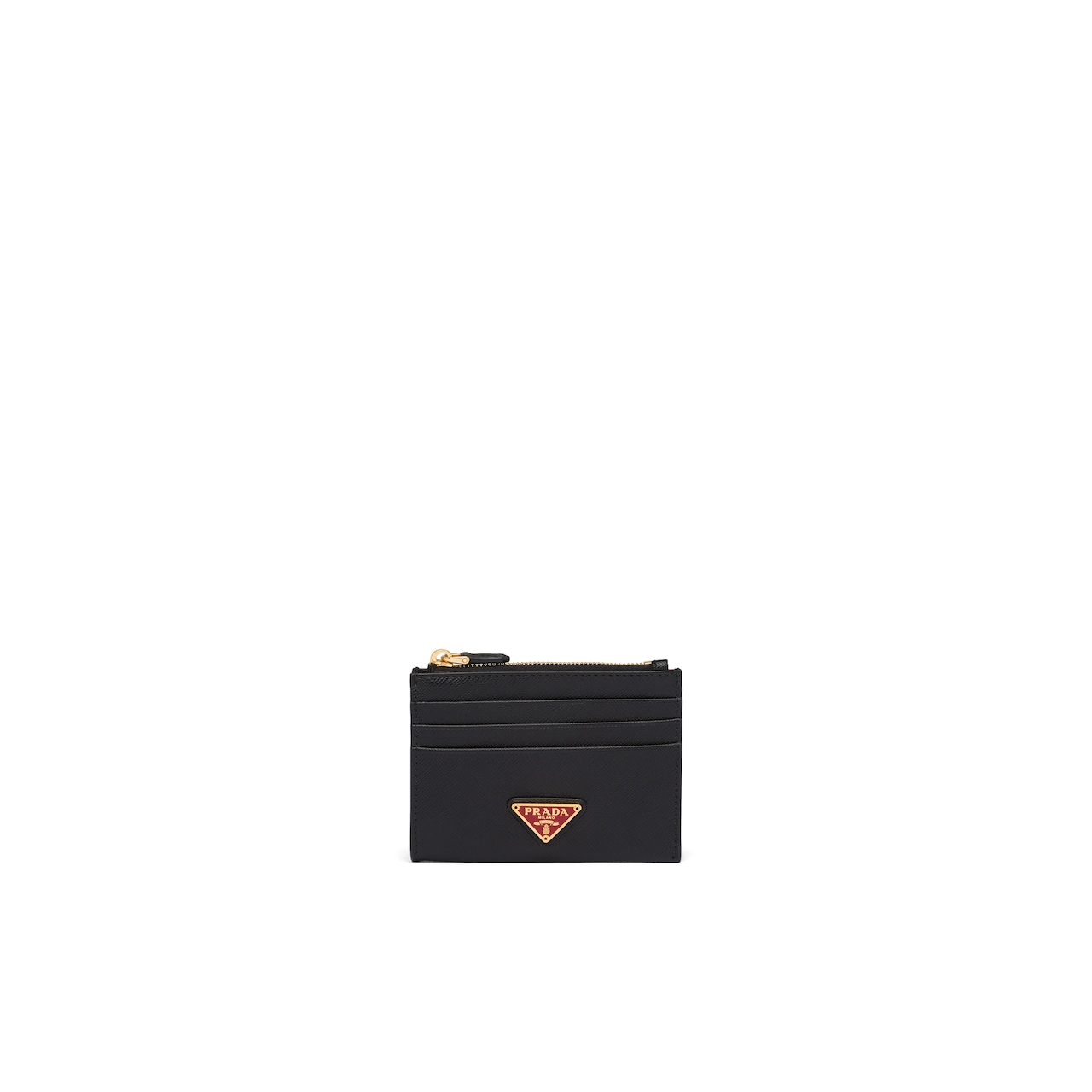 Prada Saffiano leather credit card holder 1