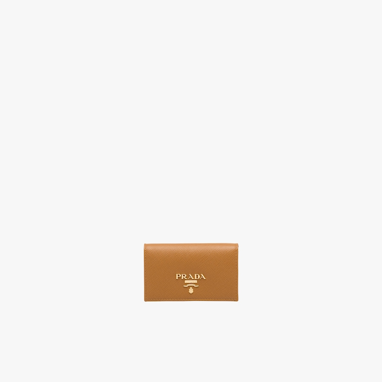 Prada Leather Card Holder - Woman