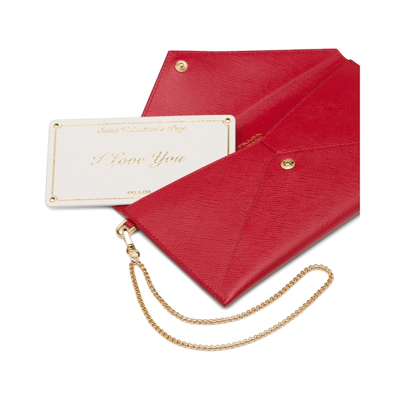 Saffiano leather clutch