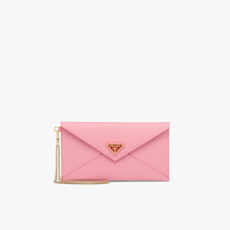Prada Saffiano 皮革链条手包 - 女士