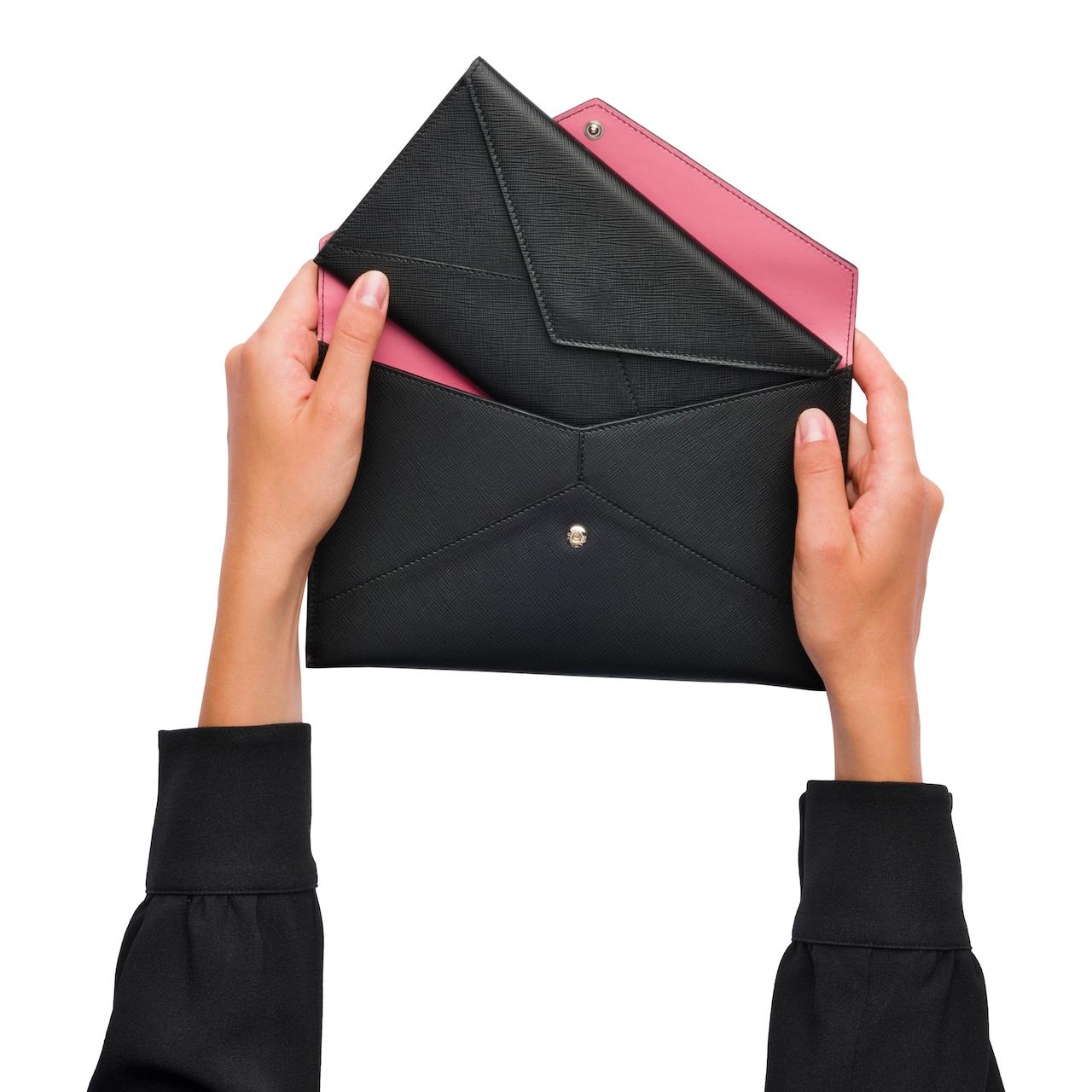 Pradamalia leather document holder set