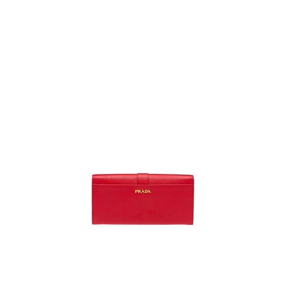 Cahier Saffiano Leather Wallet Large