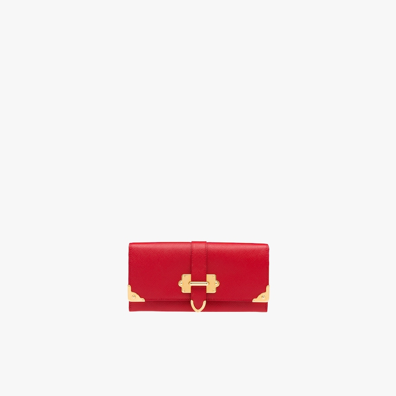 Prada Cahier Saffiano Leather Wallet Large - Woman