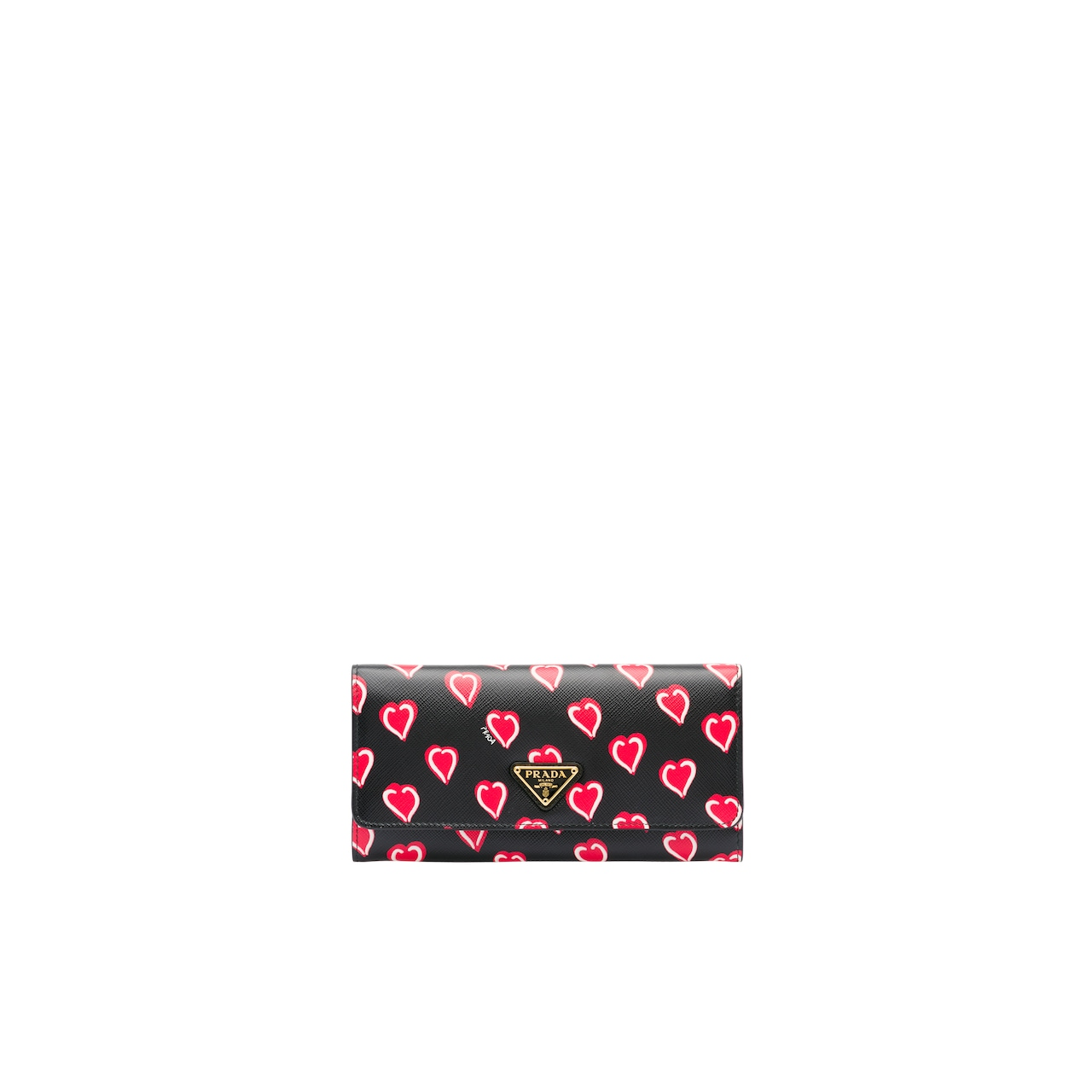 Printed Saffiano leather wallet