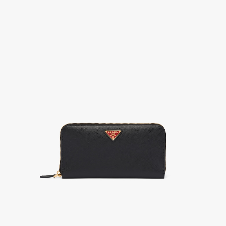 Prada Large Saffiano Leather Wallet - Woman