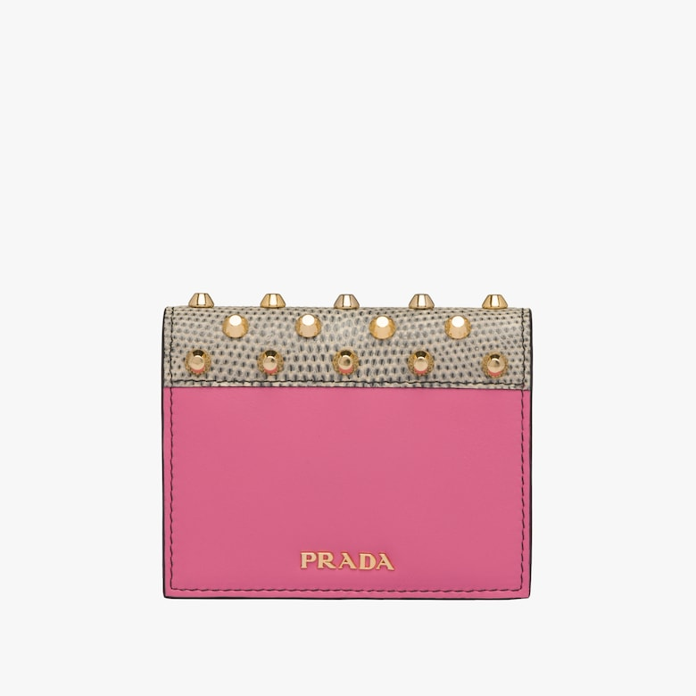 76c45be0802e Small studded leather wallet