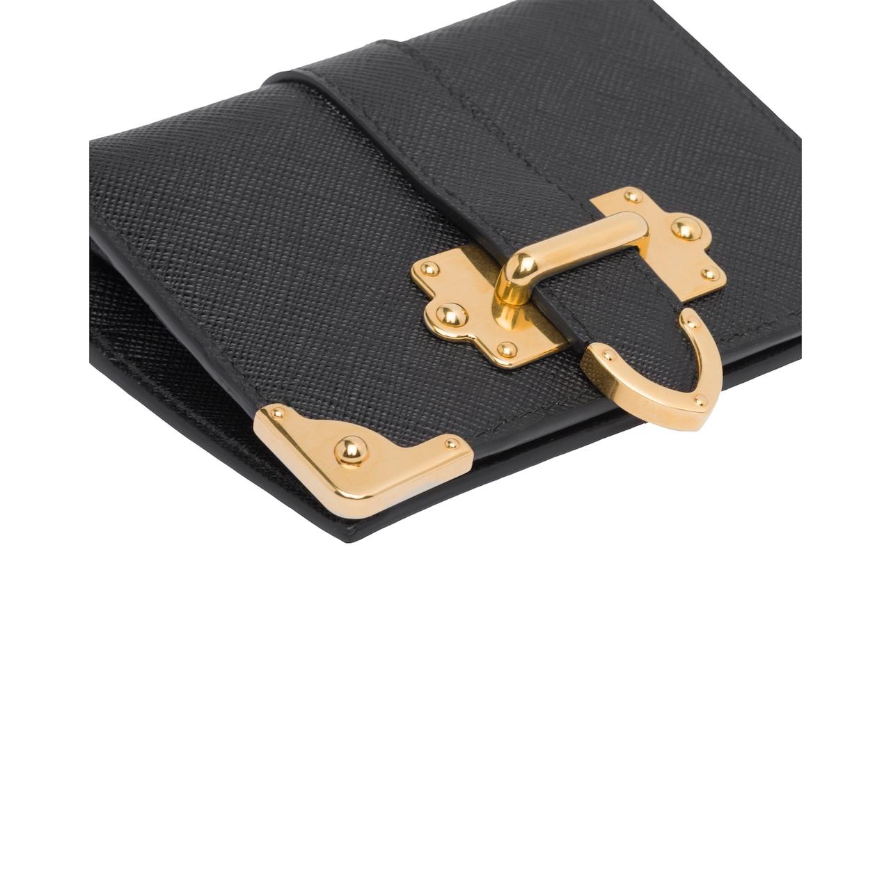 Small Prada Cahier Saffiano leather wallet