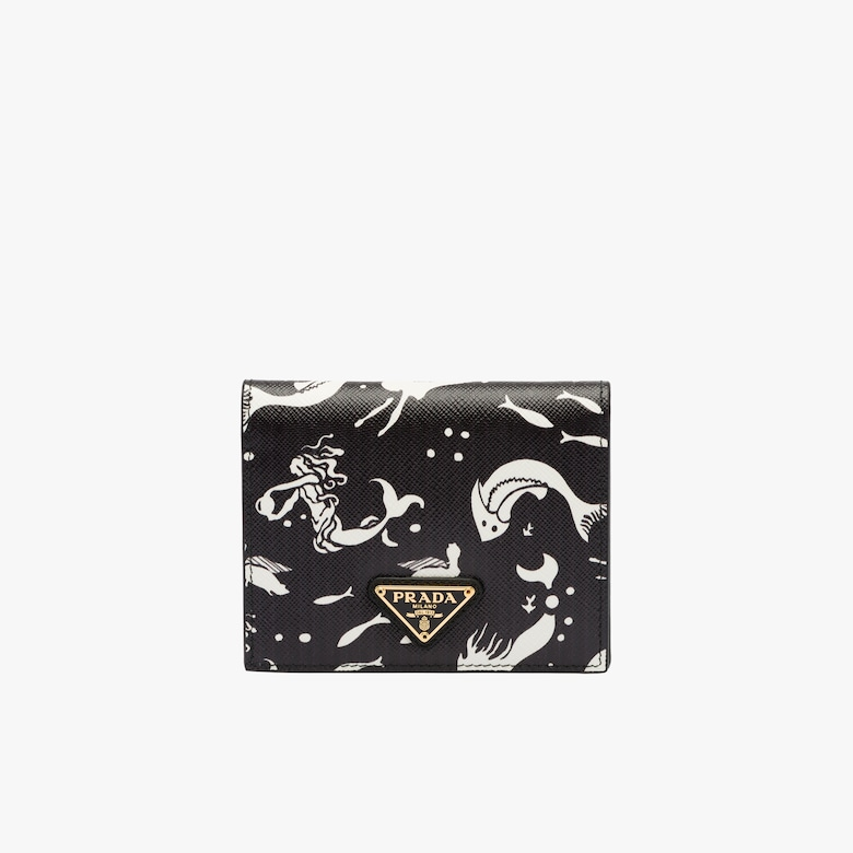 f187496f6d79 Small Saffiano leather wallet