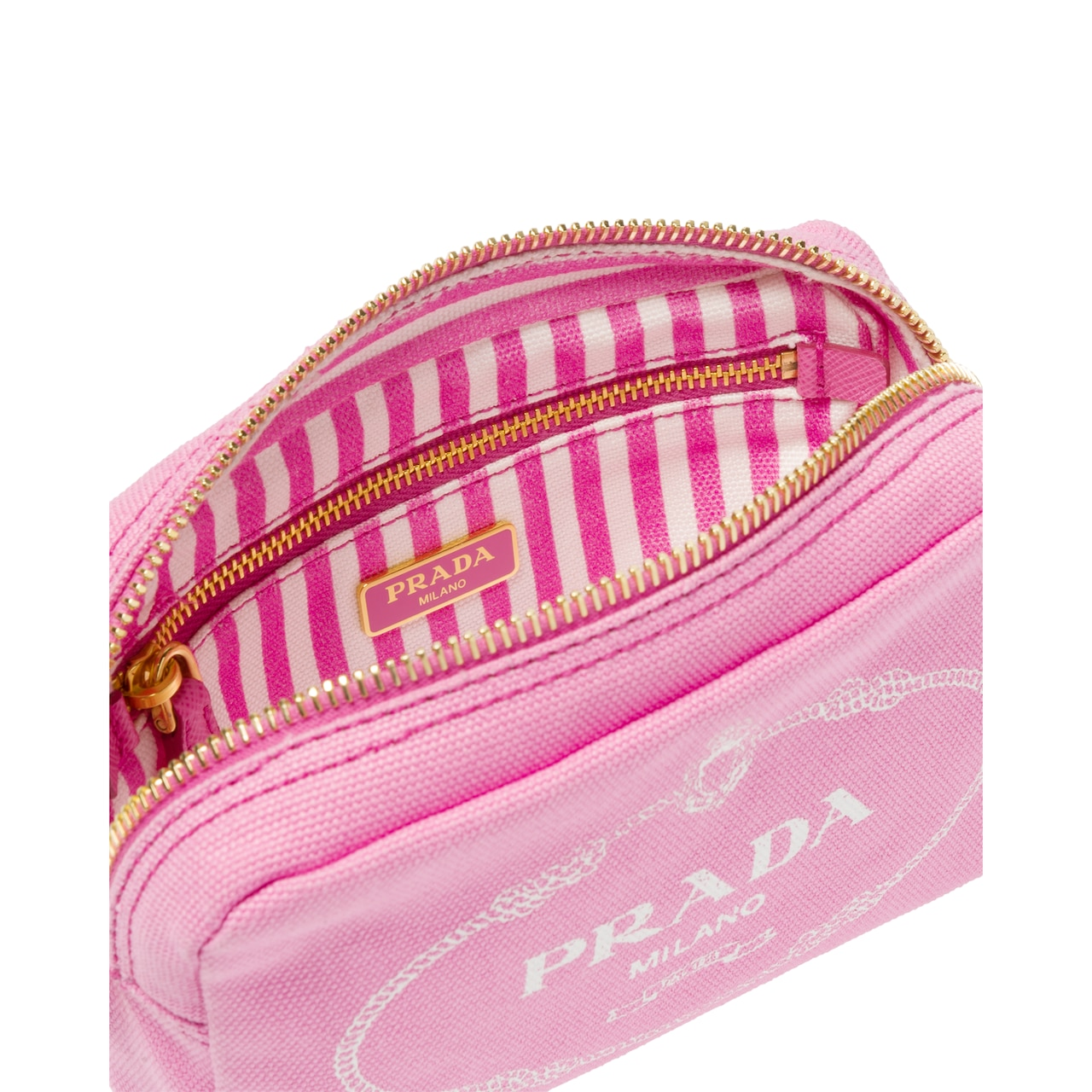 Fabric cosmetic pouch