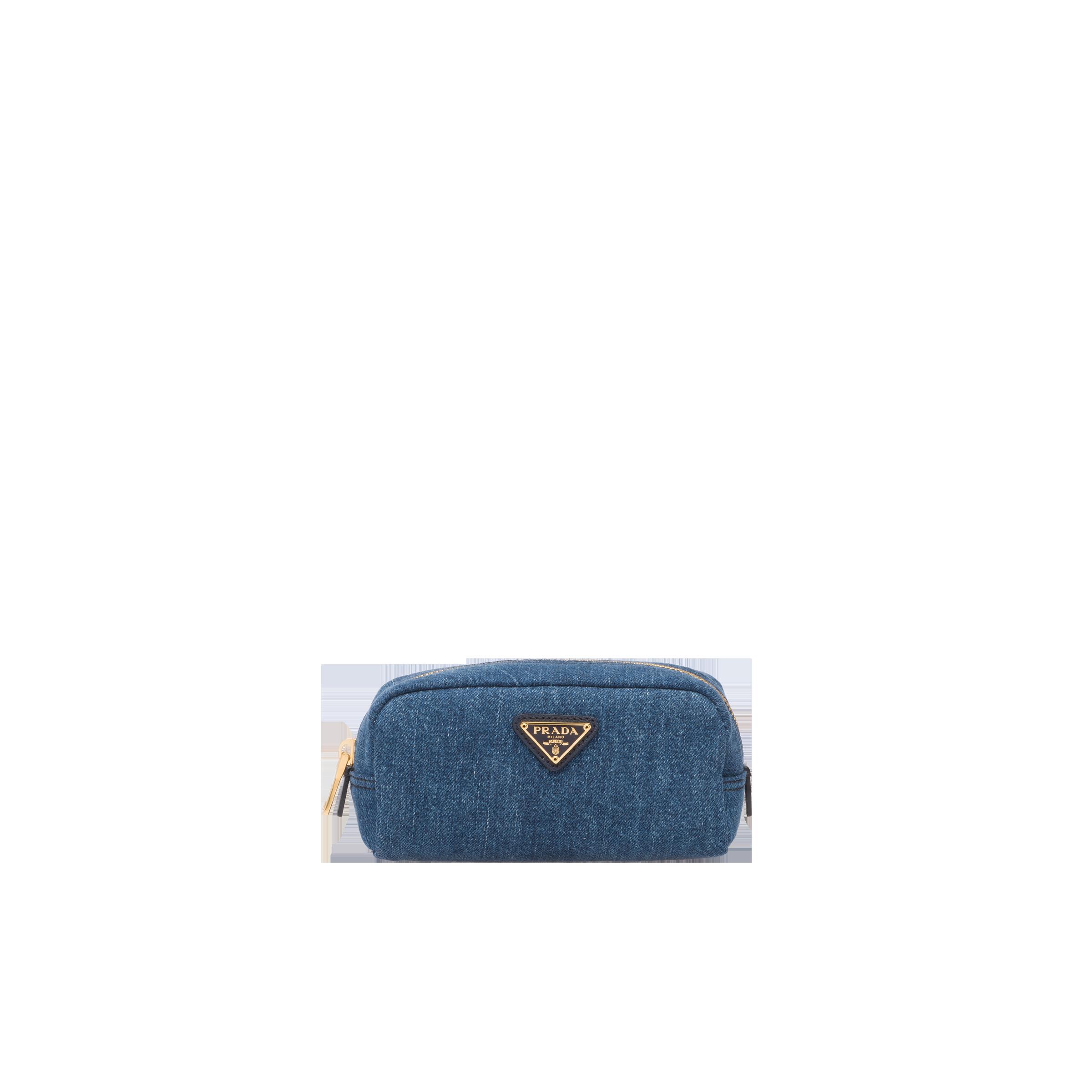 259b20d7be1f Denim Cosmetic Pouch | Prada - 1NA175_AJ6_F0008