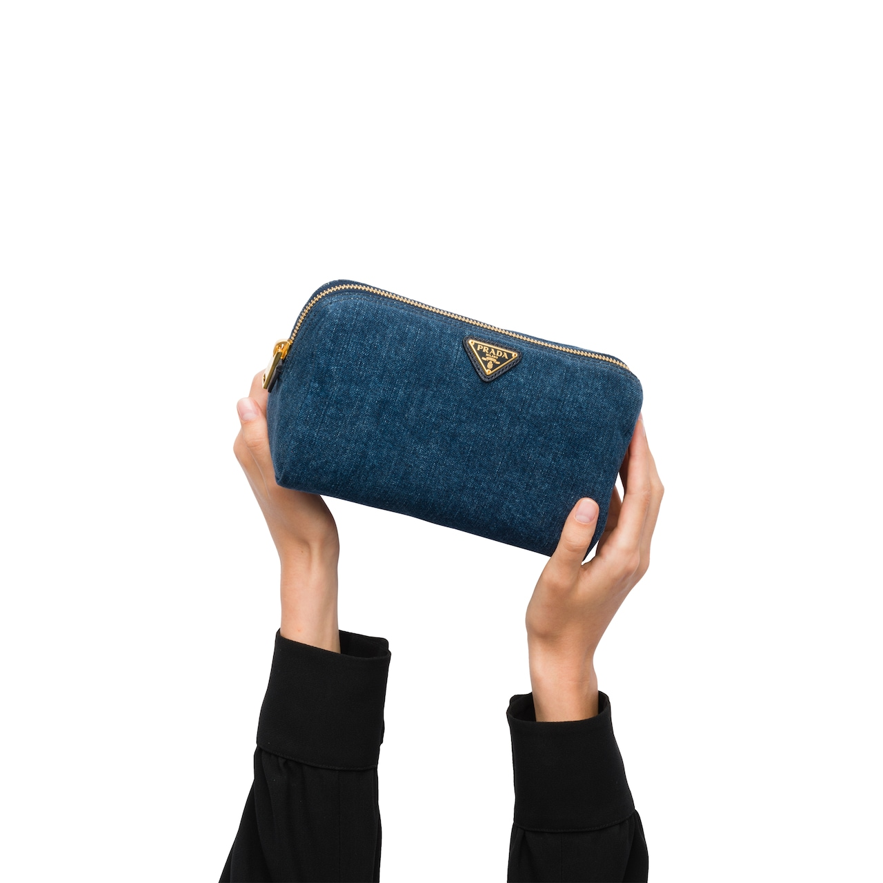 Prada Denim Cosmetic Pouch 3