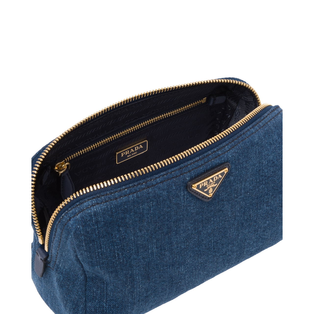 Prada Denim Cosmetic Pouch 2