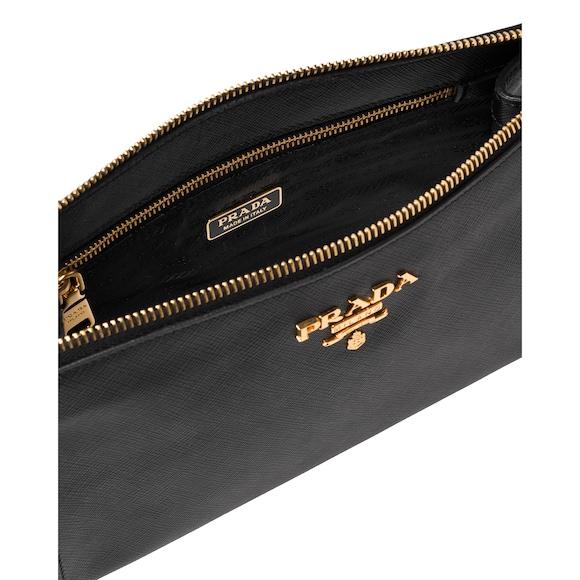 Saffiano leather clutch