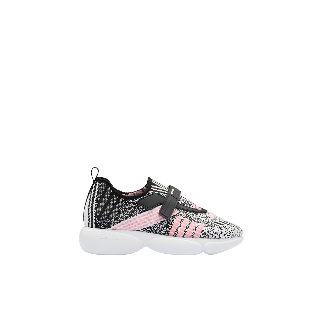 Metallic knit fabric Cloudbust sneakers