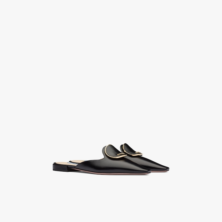 Prada Brushed leather slippers - Woman