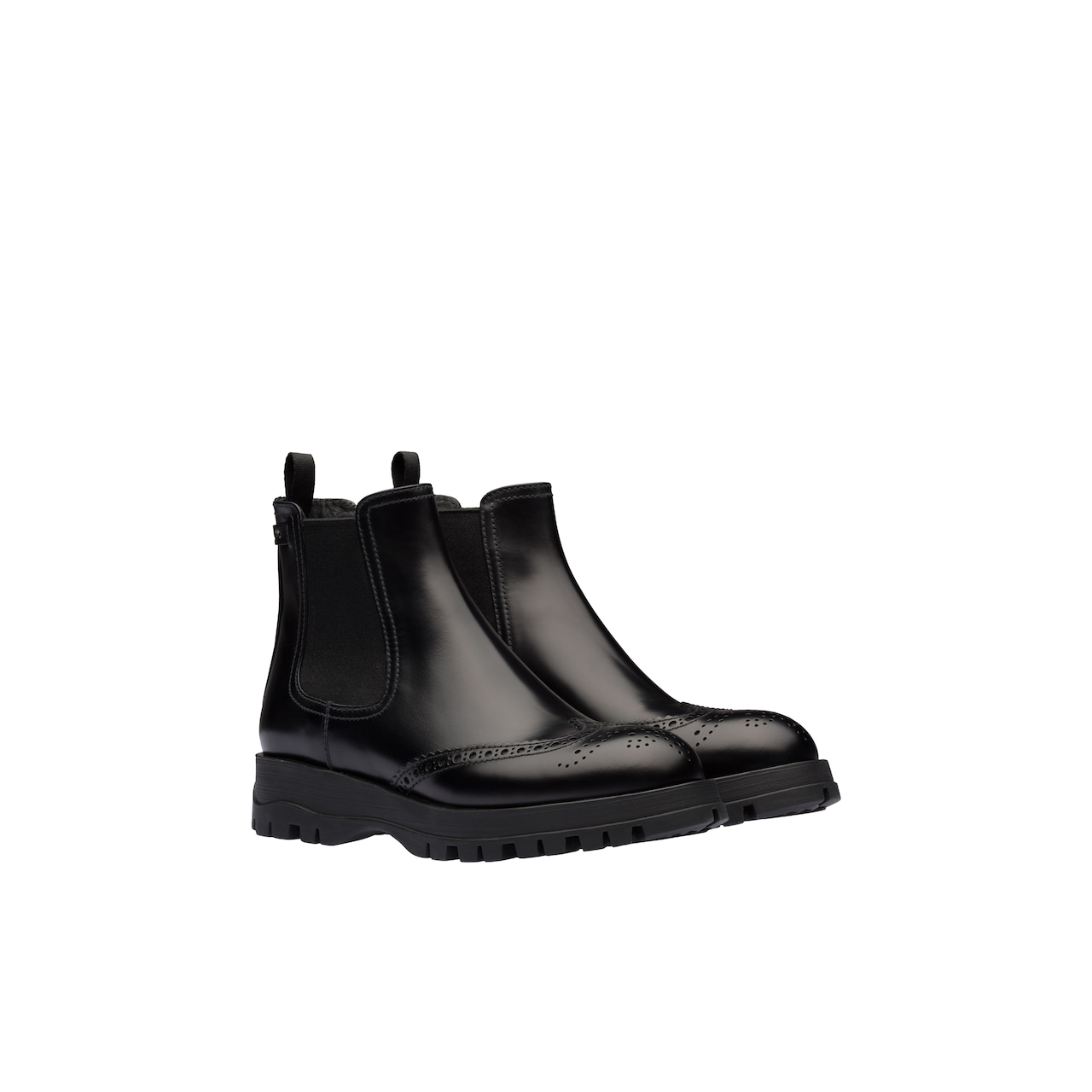 Prada Brushed leather booties 1