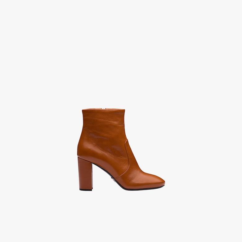 Madras 皮革短靴