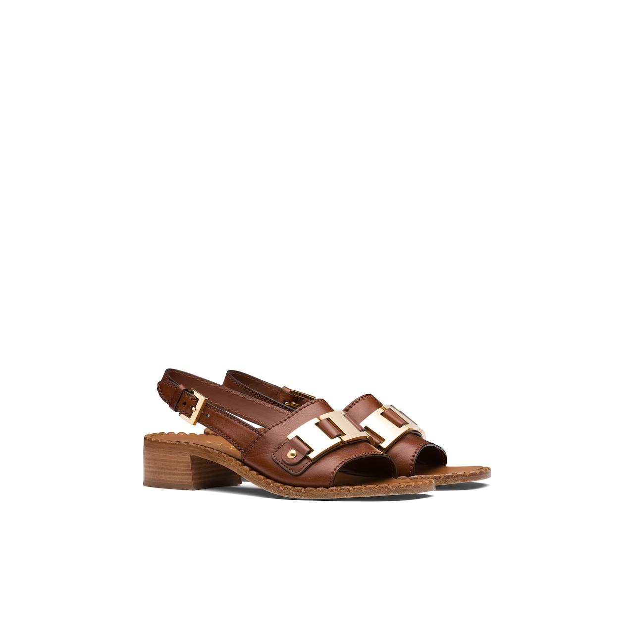Prada 皮革凉鞋 1