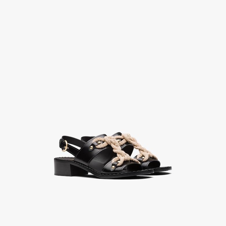 Prada Brushed leather sandals - Woman